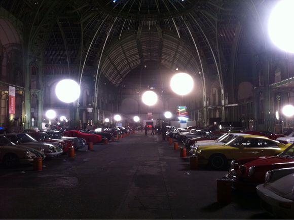 Installation nocturne au Grand Palais